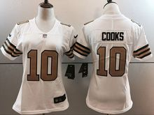 Women   Nfl New Orleans Saints #10 Brandin Cooks White Color Rush Limited Jersey