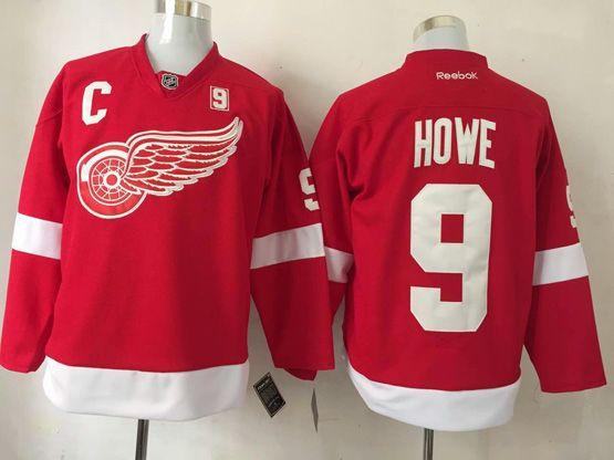 Mens Nhl Detroit Red Wings #9 Howe Red Jersey