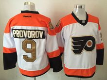 Mens Reebok Philadelphia Flyers #9 Provorov White 50th Anniversary Premier Jersey