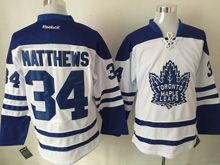 Mens Nhl Toronto Maple Leafs #34 Auston Matthews White 3rd Jersey