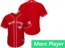 Mens Women Youth Majestic Toronto Blue Jays Red Cool Base Jersey