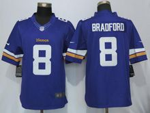 Mens   Minnesota Vikings #8 Sam Bradford Purple Limited Jersey