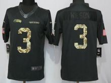 Mens Nfl Seattle Seahawks #3 Russell Wilson Green 2016 Salute To Service Limited Jersey