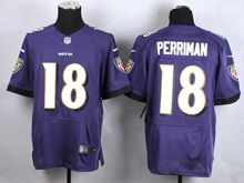 Mens Nfl Baltimore Ravens #18 Breshad Perriman Purple Elite Jersey