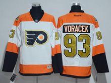 Mens Reebok Philadelphia Flyers #93 Jakub Voracek White 50th Anniversary Premier Jersey
