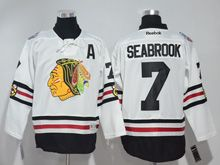 Mens Reebok Nhl Chicago Blackhawks #7 Brent Seabrook White 2017 Winter Classic Jersey