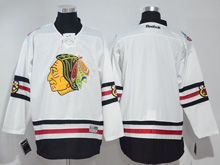 Mens Reebok Nhl Chicago Blackhawks Blank White 2017 Winter Classic Jersey