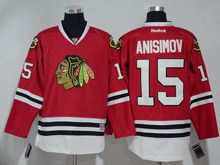 Mens Reebok Nhl Chicago Blackhawks #15 Artem Anisimov Red Jersey