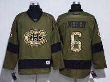 Mens Reebok Nhl Montreal Canadiens #6 Shea Weber Green Jersey