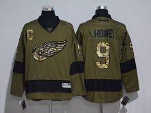 Mens Reebok Nhl Detroit Red Wings #9 Howe Green Jersey