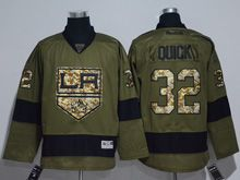Mens Reebok Nhl Los Angeles Kings #32 Jonathan Quick Green Camo Jersey