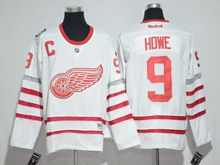 Mens Reebok Nhl Detroit Red Wings #9 Howe White 2017 Centennial Classic Jersey