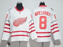 Mens Reebok Nhl Detroit Red Wings #8 Justin Abdelkader White 2017 Centennial Classic Jersey