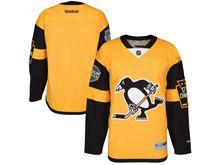 Mens Reebok Nhl Pittsburgh Penguins Blank Yellow 2017 Stadium Series Jersey
