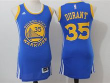 Women Adidas Golden State Warriors #35 Kevin Durant Royal Blue Jersey