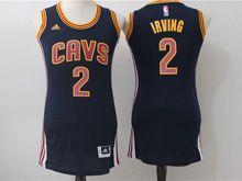 Women Adidas Cleveland Cavaliers #2 Irving Navy Blue Jersey