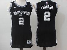 Women Adidas Nba San Antonio Spurs #2 Leonard Black Jersey