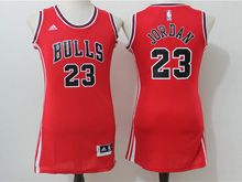 Women Adidas Nba Chicago Bulls #23 Jordan Red Jersey