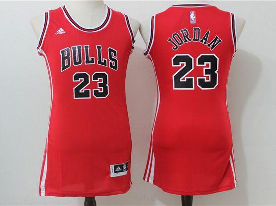 Women Adidas Nba Chicago Bulls #23 Jordan Red Jersey