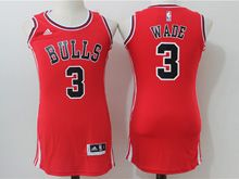 Women Nba Chicago Bulls #3 Dwyane Wade Red Jersey