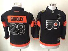 Youth Reebok Philadelphia Flyers #28 Claude Giroux Black 2017 Stadium Series Jersey