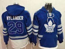 Mens Reebok Nhl Toronto Maple Leafs #29 William Nylander Blue Hoodie