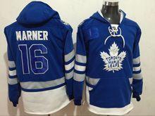 Mens Reebok Nhl Toronto Maple Leafs #16 Mitchell Marner Blue Hoodie