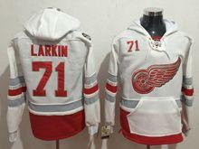 Mens Reebok Nhl Detroit Red Wings #71 Dylan Larkin White Hoodie