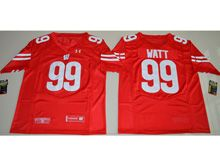 Mens Ncaa Nfl Wisconsin Badgers #99 J. J. Watt Red Limited Jersey
