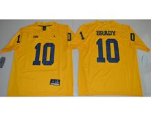 Mens Ncaa Nfl Jordan Brand Michigan Wolverines #10 Tom Brady Yellow Limited Jersey