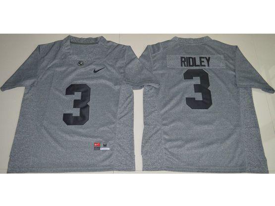 Mens Ncaa Nfl Alabama Crimson Tide #3 Calvin Ridley Gray Fashion Jersey