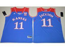 Mens Ncaa Nba Kansas Jayhawks #11 Josh Jackson Blue Jersey