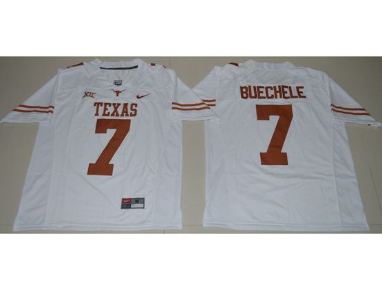 Mens Ncaa Nfl Texas Longhorns #7 Shane Buechele White Limited Jersey