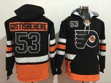 Mens Reebok Philadelphia Flyers #53 Shayne Gostisbehere Black Hoodie