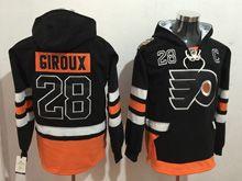 Mens Reebok Philadelphia Flyers #28 Claude Giroux Black Hoodie