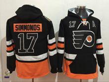 Mens Reebok Philadelphia Flyers #17 Wayne Simmonds Black Hoodie