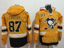 Mens Reebok Nhl Pittsburgh Penguins #87 Sidney Crosby Yellow Hoodie