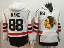 Mens Reebok Nhl Chicago Blackhawks #88 Patrick Kane White Hoodie