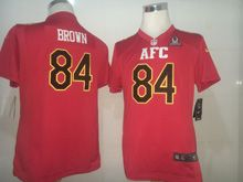 Youth   Pittsburgh Steelers #84 Antonio Brown Red (2017 Pro Bowl) Game Jersey