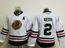 Youth Reebok Nhl Chicago Blackhawks #2 Duncan Keith White 2017 Winter Classic Jersey