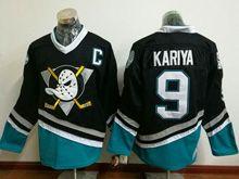 Mens Ccm Nhl Anaheim Mighty Ducks #9 Kariya Black Vintage Jersey