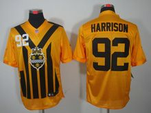 Mens   Nfl Pittsburgh Steelers #92 James Harrison Yellow 1933 Classics Jersey