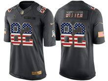 Mens   Dallas Cowboys #82 Jason Witten Green Usa Flag 2016 Salute To Service Jersey
