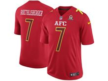 Mens Nfl Pittsburgh Steelers #7 Ben Roethlisberger Red (2017 Pro Bowl) Game Jersey