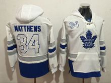 Mens Reebok Nhl Toronto Maple Leafs #34 Auston Matthews White Hoodie