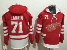 Mens Reebok Nhl Detroit Red Wings #71 Dylan Larkin Red Hoodie