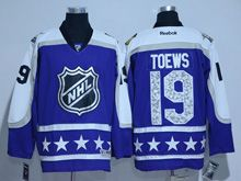 Mens Reebok Chicago Blackhawks #19 Jonathan Toews Purple 2017 All Star Hockey Jersey