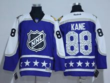 Mens Reebok Chicago Blackhawks #88 Patrick Kane Purple 2017 All Star Hockey Jersey