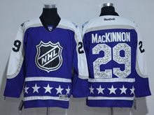 Mens Reebok Colorado Avalanche #29 Nathan Mackinnon Purple 2017 All Star Hockey Jersey