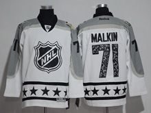 Mens Reebok Pittsburgh Penguins #71 Evgeni Malkin White 2017 All Star Hockey Jersey